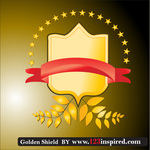 banner,frame,free vector,gold,golden,leaf,shield,shield vector,star,wheat