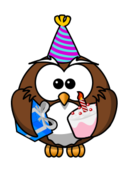 owl,cartoon,bird,funny,animal,party,birthday,present,cake,event