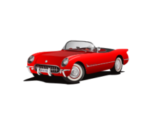 corvette 1953 red - Corvette Stingray Logo Vector