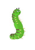 caterpillar,ldap,green,happy