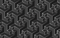 cube,cubic,background,illustrator,backdrop,pattern,seamless,object,gray,grey,black,white,metal,metallic