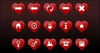 heart,shaped,icon,material
