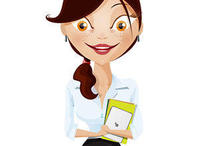 business,cartoon,cute,girl,vector character
