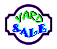 yard sale-sale-yard-junk-home-house-money-toys-stuff-game-games-kids-grass-condo-driveway-stop-street-car-sunday-sun-cash-books
