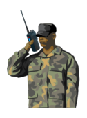 walkie-talkie,radio,soldier,army,communication,talk,message,messanger,team,personal radio,walkie talkie