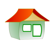 icon,home,cottage,color,contour,green,red,building,house,office,computer,software