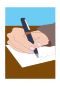 media,clip art,public domain,image,png,svg,people,school,activity,writing,hand,paper,pen