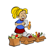 media,clip art,public domain,image,png,svg,trash,recycle,people,girl,activity,sort,separate,ecology