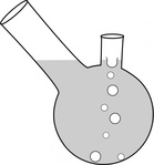 double,neck,boiling,flask,tool,science,glassware,chemistry,media,clip art,public domain,image,svg,png
