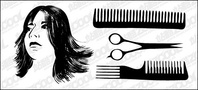 hair,haircut,vector,material